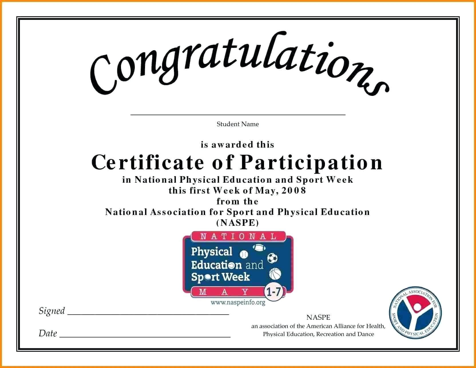 🥰free Printable Certificate Of Participation Templates (Cop)🥰 Inside Sample Certificate Of Participation Template