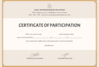 🥰free Printable Certificate Of Participation Templates (Cop)🥰 Regarding Certification Of Participation Free Template
