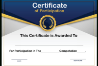 🥰free Printable Certificate Of Participation Templates (Cop)🥰 With Regard To Participation Certificate Templates Free Download