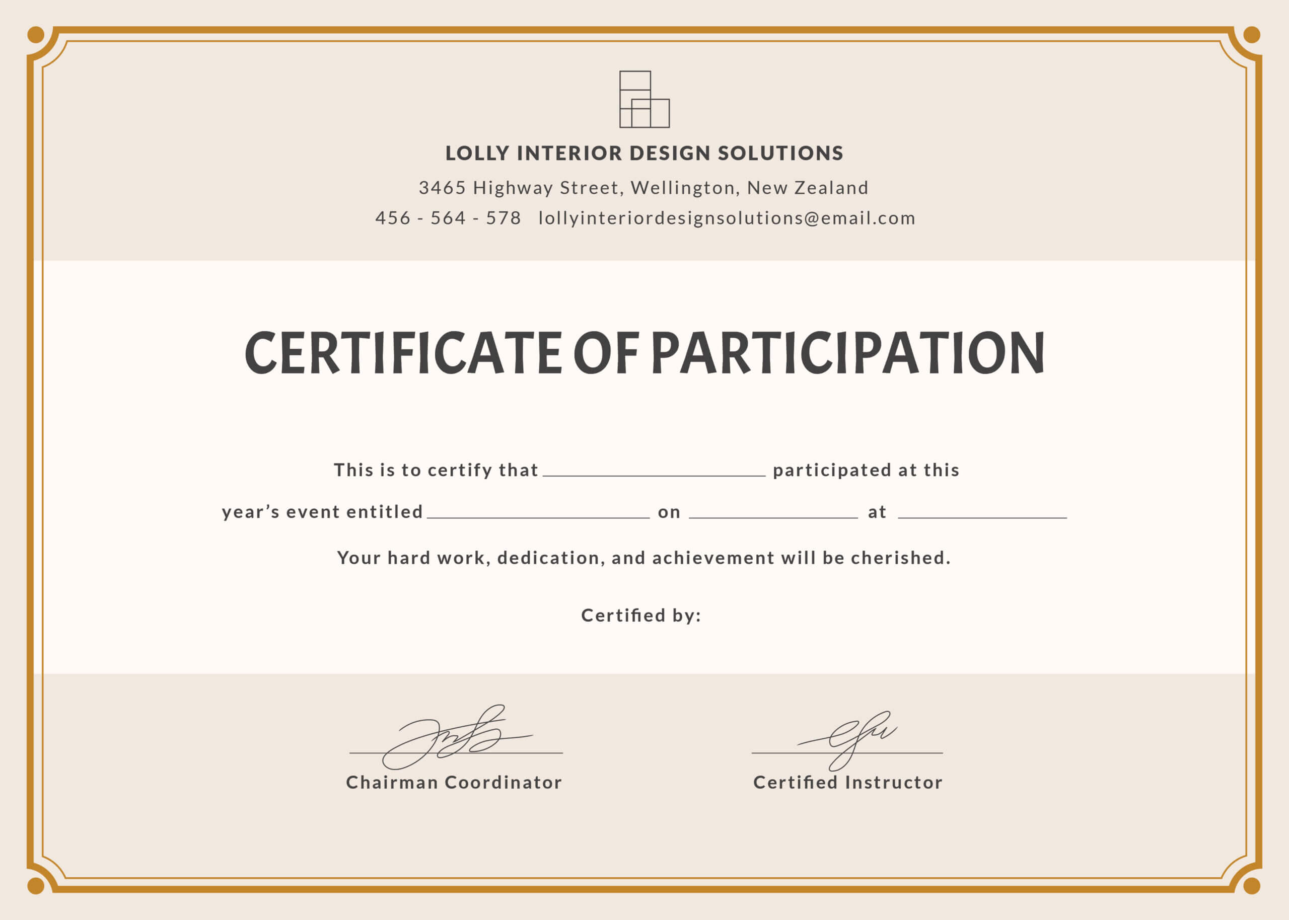 🥰free Printable Certificate Of Participation Templates (Cop)🥰 With Templates For Certificates Of Participation