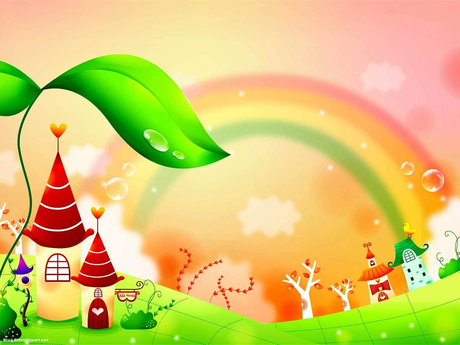 Fairy Tale Rainbow Children Background – Blog Bibleclipart In Fairy Tale Powerpoint Template