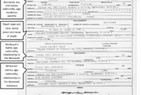 Fake Death Certificate Template – Zimer.bwong.co regarding Birth Certificate Template Uk