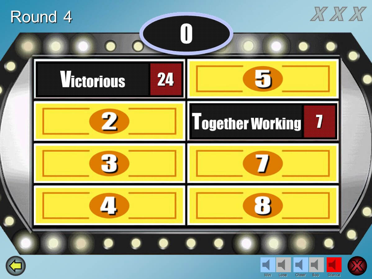 Family Feud - Powerpoint Template Download; Best One I Could Throughout Family Feud Game Template Powerpoint Free