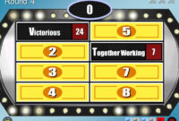 Family Feud – Powerpoint Template Download; Best One I Could With Family Feud Powerpoint Template With Sound