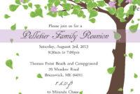Family Reunion Invitationlittlebopress On Etsy | Family for Reunion Invitation Card Templates