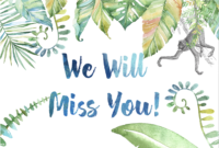 Farewell Card – Zimer.bwong.co with Sorry You Re Leaving Card Template