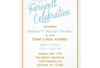 Farewell Celebration Going Away Invitation | Zazzle throughout Farewell Invitation Card Template