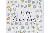 Farewell Greeting Cards – Zimer.bwong.co in Sorry You Re Leaving Card Template
