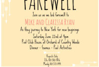 Farewell Invite | Going Away Party Invitations, Farewell throughout Farewell Invitation Card Template