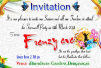 Farewell Party Invitation Cards Designs Images | Farewell for Farewell Invitation Card Template
