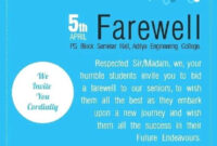 Farewell Party Invitation Flyer Template   Farewell with Farewell Invitation Card Template