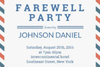 Farewell Party Invitation Template | Farewell Party intended for Farewell Card Template Word