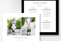 Fashion & Beauty Blogger Rate Card Template | Photoshop For within Advertising Rate Card Template