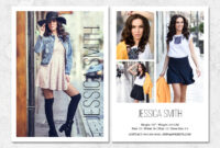 Fashion Model Comp Card Template throughout Free Zed Card Template