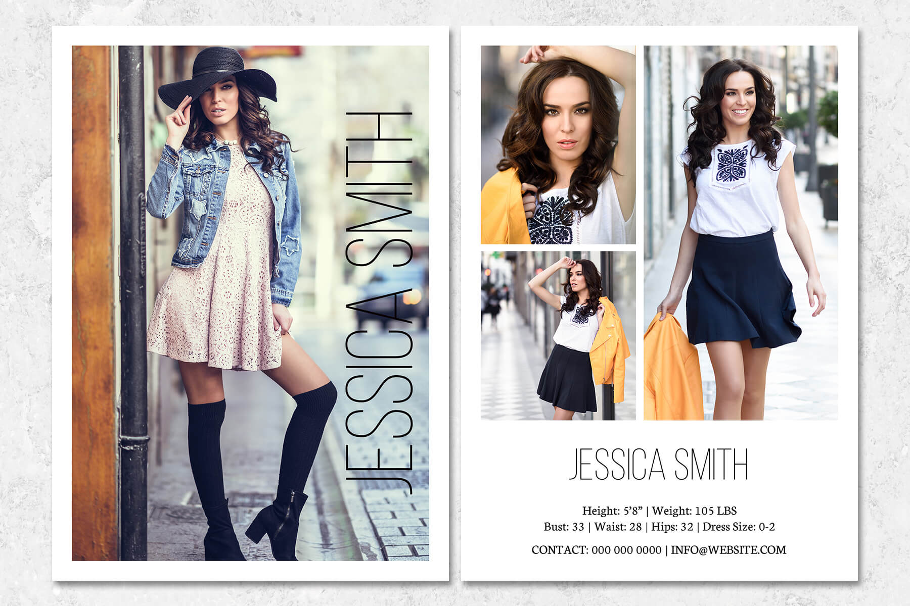 fashion model comp card template throughout free zed card