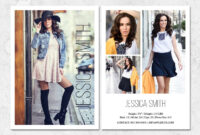 Fashion Model Comp Card Template with Free Model Comp Card Template