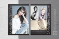 Fashion Modeling Comp Card Template throughout Comp Card Template Psd