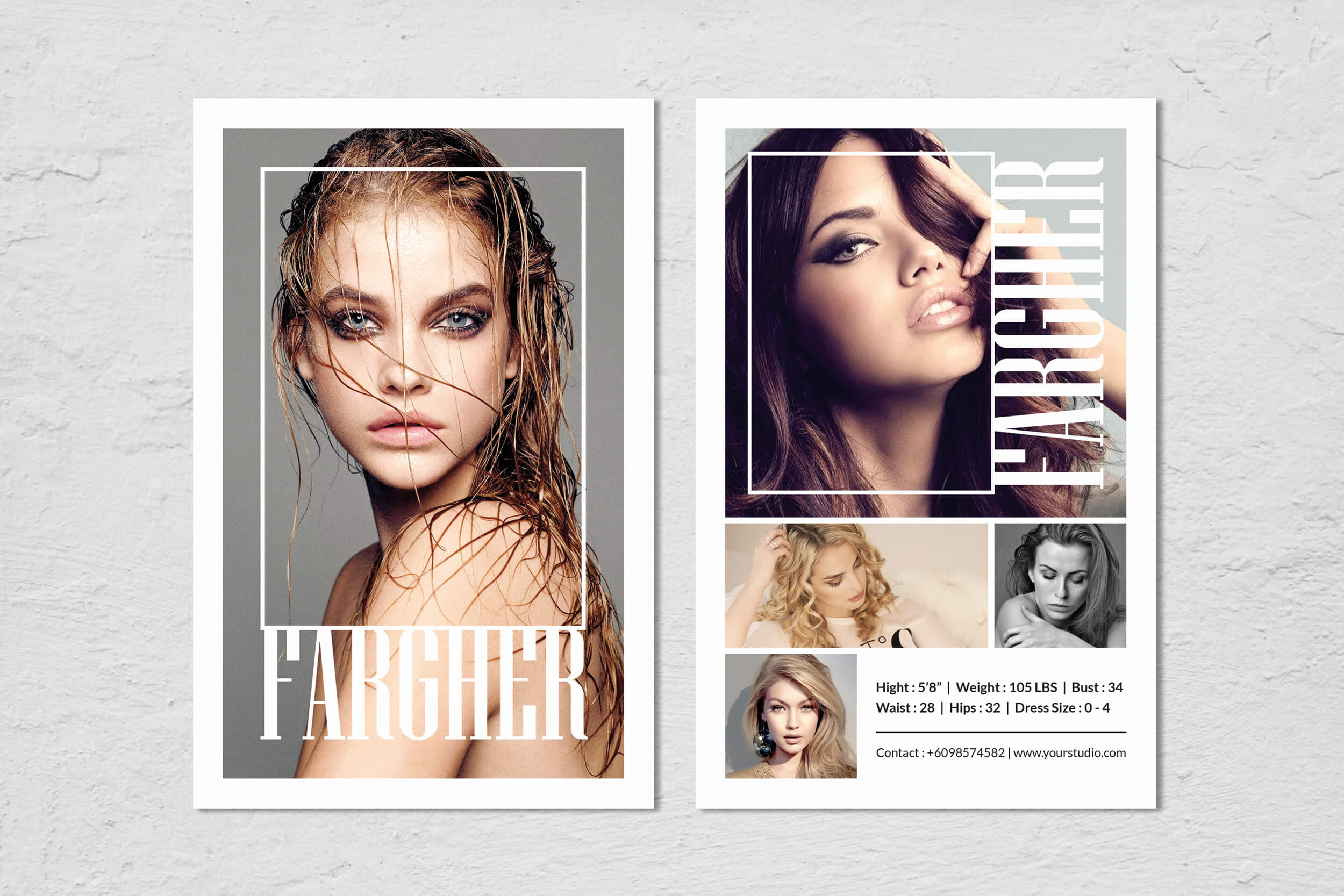 Fashion Modeling Comp Card Template Throughout Free Model Comp Card Template Psd