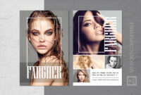 Fashion Modeling Comp Card Template throughout Zed Card Template