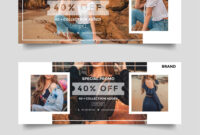 Fashion Sale Facebook Cover Banner Template for Photography Banner Template