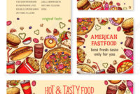 Fast Food Banner And Poster Template Set Design regarding Food Banner Template