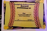Fastpitch/softball Awards Certificate. | Softball Awards pertaining to Softball Award Certificate Template