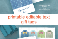 Father S Day Gift Tag Template – Ironi.celikdemirsan with Free Gift Tag Templates For Word