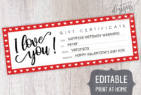 Father's Day Gift Certificate Printable Editable Template for Movie Gift Certificate Template