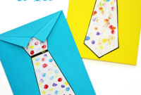 Father's Day Tie Card (With Free Printable Tie Template for Fathers Day Card Template
