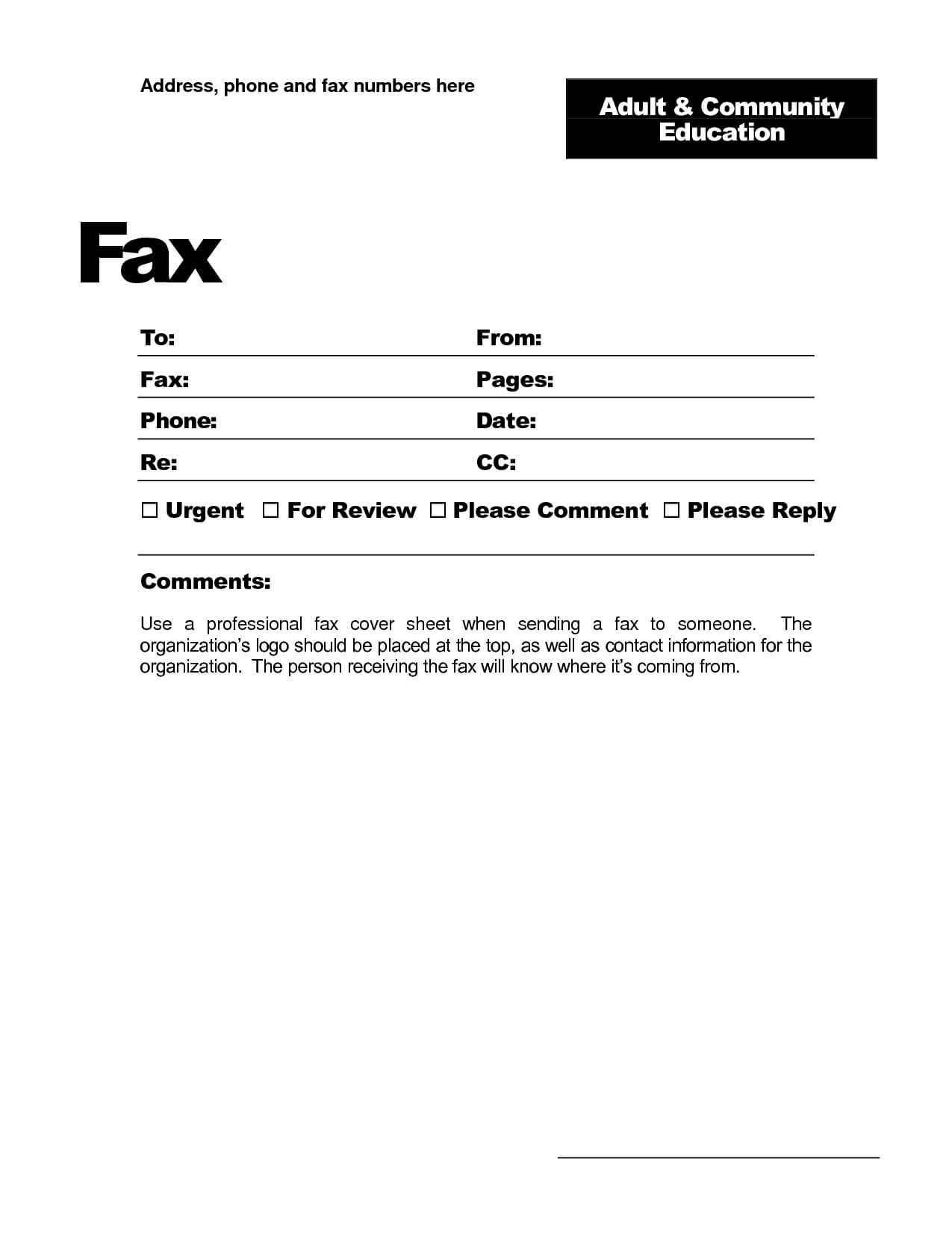 Fax Template Word 2010 - Free Download Throughout Fax Cover Sheet Template Word 2010