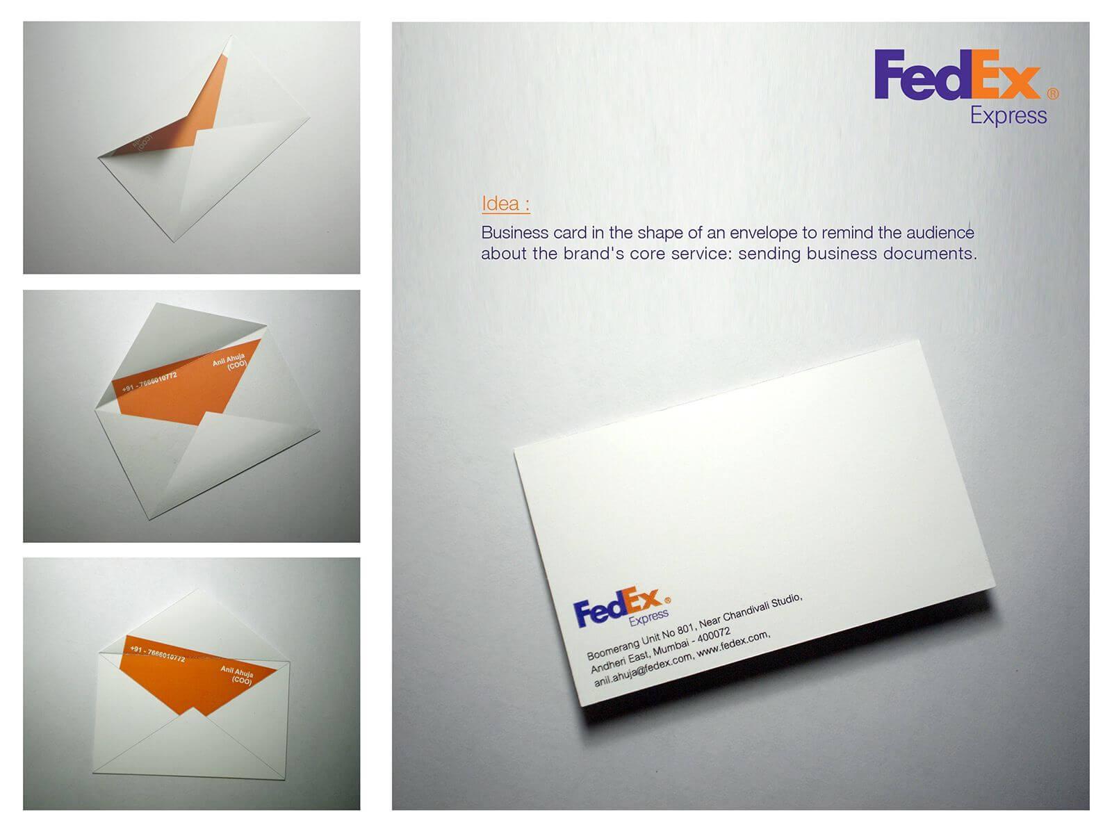 Fedex: Envelope | Business Card Design, Unique Business In Fedex Brochure Template