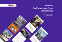 Fedex Web Concept On Behance pertaining to Fedex Brochure Template