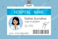 Female Asian Doctor Id Card Templatemedical Stock Vector in Doctor Id Card Template