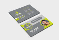 Female Fitness Membership Card Template In Psd, Ai & Vector Pertaining To Gym Membership Card Template