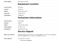 Field Service Report Template (Better Format Than Word with regard to Report Content Page Template