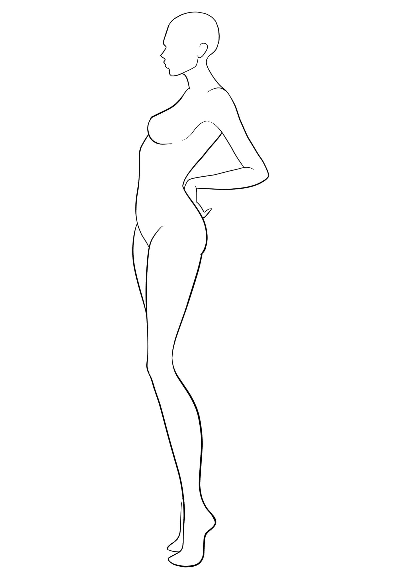 Figure Template 38 | Fashion Figure Drawing, Fashion Figure Intended For Blank Model Sketch Template