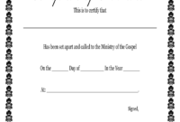 Fillable Online Printable Certificate Of Ordination for Free Ordination Certificate Template