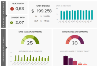 Finance Dashboards – Example #2: Cash Management Dashboard with Financial Reporting Dashboard Template