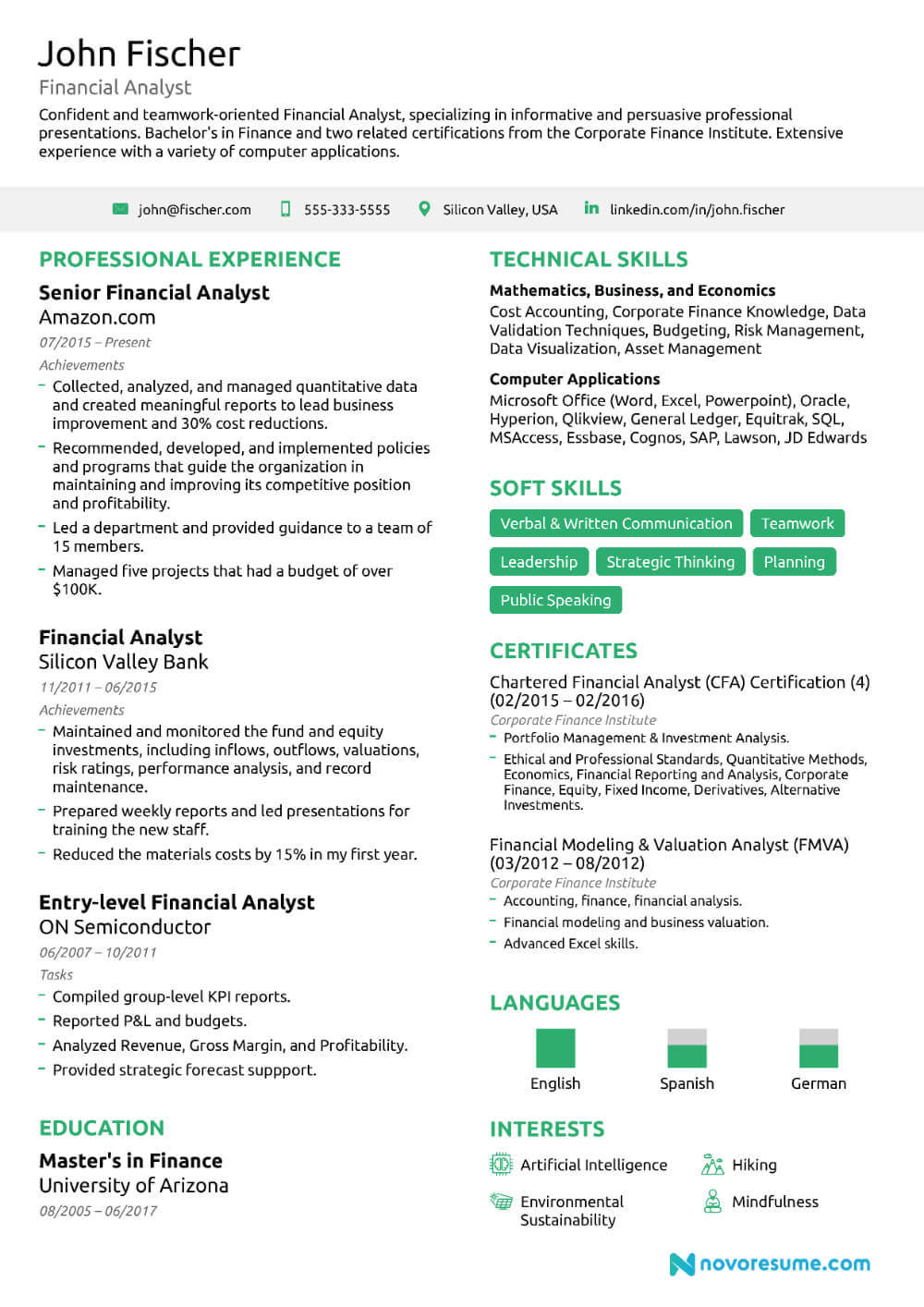 Financial Analyst Resume Guide Examples Within Credit For Credit Analysis Report Template