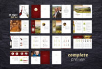 Fine Wine Vol. 1 Brochure #adobe#indesign#compatible#ready within Wine Brochure Template