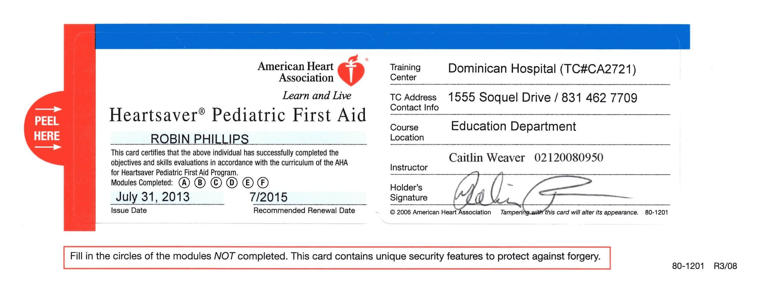 First Aid Certificate Template Free Certification Throughout Cpr Card Template