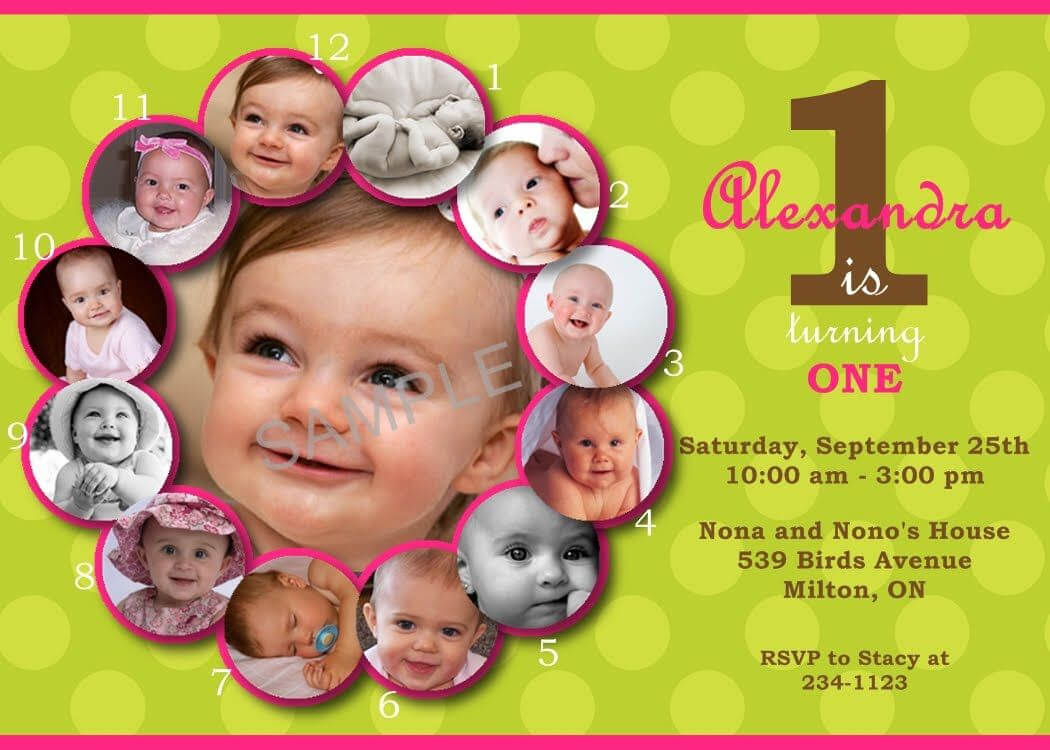 First Birthday Invitations Templates Free | 1St Birthday With Regard To First Birthday Invitation Card Template
