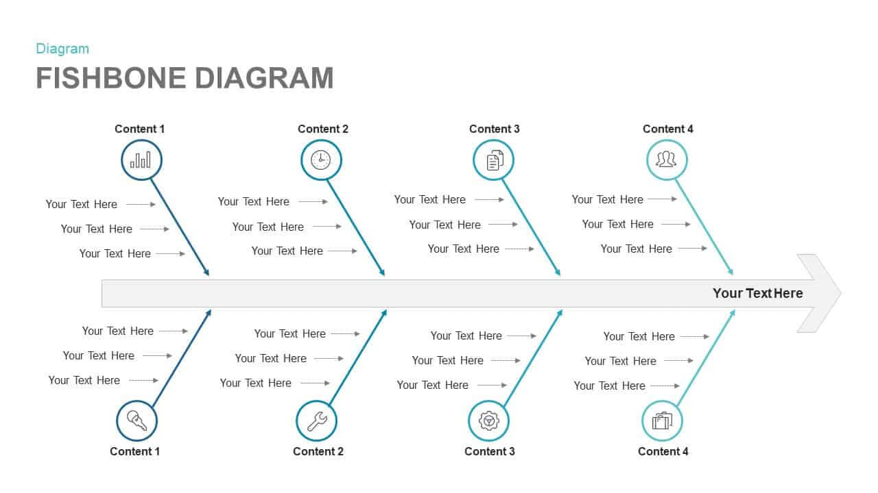 Fishbone Diagram Template For Powerpoint And Keynote Slide With Post Mortem Template Powerpoint