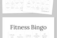 Fitness Bingo | Bingo Cards, Free Printable Bingo Cards, Bingo in Ice Breaker Bingo Card Template