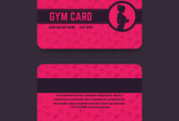 Fitness Club Gym Card Template With Regard To Gym Membership Card Template