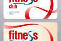 Fitness Club Membership Card Design Template. Pertaining To Gym Membership Card Template