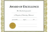 Five Top Risks Of Attending Soccer Award Certificate in Blank Award Certificate Templates Word