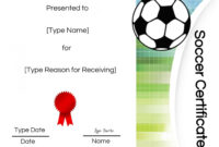 Five Top Risks Of Attending Soccer Award Certificate intended for Soccer Certificate Template Free