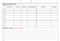 Fixture Inspection Documentation For Engineering – inside Part Inspection Report Template