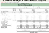 Flexible Budgets And Standard Cost Systems – Ppt Download Inside Flexible Budget Performance Report Template